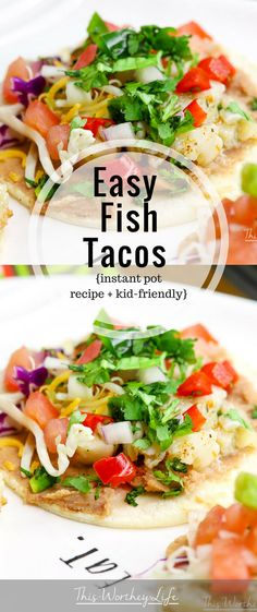 Get dinner on the table in 20 minutes with my easy Instant Pot Fish Tacos recipe using Alaska Pollock. I'm sharing how I put this taco recipe together and how my family reacted to using seafood versus another type of meat! #AD #IC #tacos #fish #AskForAlaska