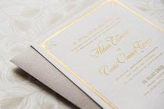 Foiled Invitations // Fairmont Foiled Wedding Invitation // Foil, gold, elegant, lovely, feminine, vintage invitation