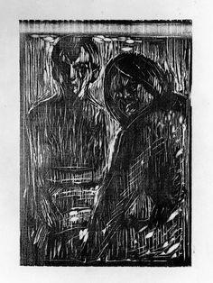 Edvard Munch - After the Conversation, 1913, Woodcut