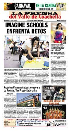 Portada de La Prensa para la semana del 18 de octubre de 2013.