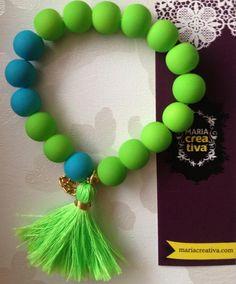 #pulseras #neon #mariacreativa
