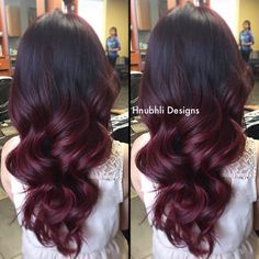Ombre hairstyles in red!