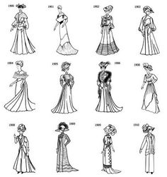 Enchanted Serenity of Period Films: Period Fashion 1900-1910.  This timeline and more on Fashion-Era.com .
