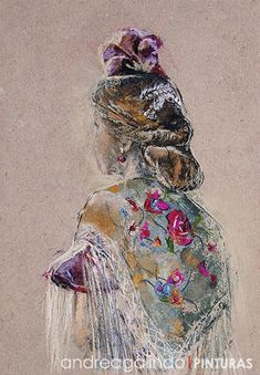 Dress Illustration, Flamenco Dancers, Figure Painting, Watercolor, Texture, Andalucia, History, Drawings, Artwork