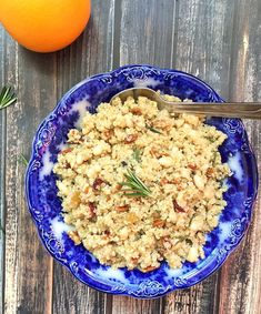 A delicious vegetarian main dish or side dish! Orange Rosemary Quinoa with Beans and Pecans | Recipe from Meal Makeover Moms