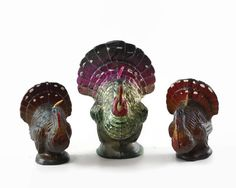 Vintage Gurley Turkey Candles Vintage by GizmoandHooHa on Etsy