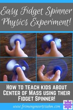 Easy Fidget Spinner Science Experiment | Explore Center of Mass Using a Fidget Spinner!