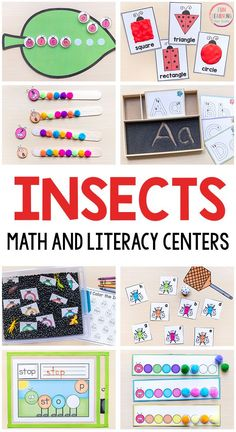 These insect theme printables are all fun and engaging activities for your math and literacy centers this spring. #springactivities #springcenters #mathcenters #literacycenters #preschool #kindergarten