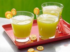 A beautiful color and a delicious contrast of flavors, this cucumber, cantaloupe, and kumquats are the perfect trio.