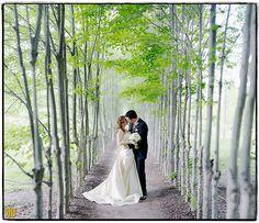 "Along the Path by Ryan Brenizer, ""Brenizer method"" panorama Romantic Wedding Photos, Wedding Poses, Wedding Portraits, Wedding Pictures, Wedding Engagement, Romantic Pictures, Couple Portraits, Wedding Dresses, Perfect Wedding"