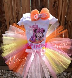 Baby Minnie 1st Birthday Tutu Outfit by HoneyBBowtique1 on Etsy, $37.99