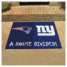 """NFL New England Patriots/New York Giants House Divided Rug 33.75""""x42.5"""""""
