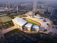 Stadium & Cultural buildings on Behance