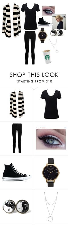 """Cardigan season"" by annabethjames ❤ liked on Polyvore featuring J Brand, Converse, Olivia Burton and Botkier"