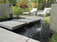 Fountain and Garden Pond | Huettl Landscape Architecture | Walnut Creek, CA