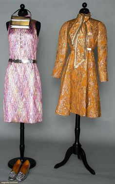 Two Designer Lame Cocktail Dresses, 1960s, Augusta Auctions, November 2, 2011 NYC, Lot 86