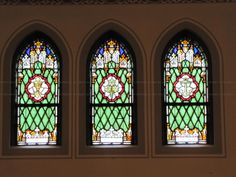 Antique-Stained-Glass-Windows-Full-Sets - Antique Stained Glass ...