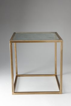@Nate Berkus Accent Table - Gold and Antiqued Glass