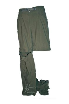 Mountain Hardwear Dark Olive Hiking Pants convertible to shorts  #MountainHardwear #PantsTightsLeggings