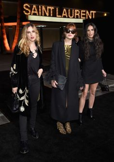See which of your favorite A-listers sat front row at YSL last night: