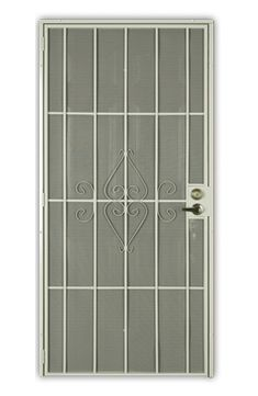 Security Screen Doors – Help Me Install It Steel Security Doors, Security Screen, Metal Screen Doors, Unique House Design, Locker Storage, Carpentry, Bathrooms, Diy, Iron Garden Gates