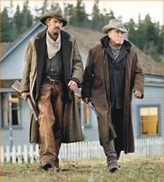 "Kevin Costner and Robert Duvall in ""Open Range,"" a film directed by Costner"