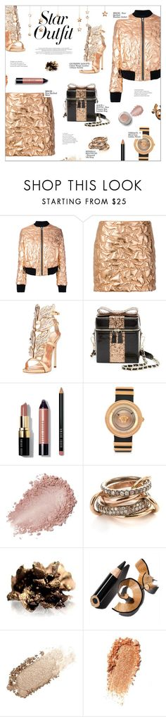 """TWINKLE, TWINKLE: STAR OUTFITS"" by larissa-takahassi ❤ liked on Polyvore featuring Bela, MSGM, Giuseppe Zanotti, Alice + Olivia, Bobbi Brown Cosmetics, Versace, SPINELLI KILCOLLIN, Smashbox, By Terry and Chantecaille"
