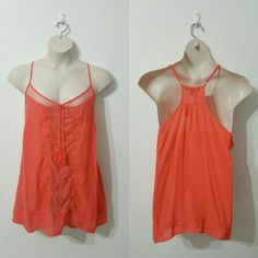 "Plus Size Orange Tank Top 3X Never been worn Racer back  Size 3X Tassel ties Adjustable shoulder strap  Measurements Pit to pit - 28/56"" Waist - 27/54"" Length - 34""  No lowballers I ship same/next day 20% off 3 or more items Tops Tank Tops"