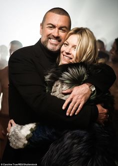 Special friends: Just days before George Michael's sudden death, his friend and neighbour Kate Moss revealed she had a secret route into the singer's North London garden
