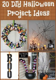 Are you feeling a little crafty this year? Here are a few, fun ideas that you can try out to add a little spookiness to your Halloween decor.