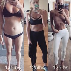 These side-by-side photos prove that those numbers on the scale don't really mean much. #FitnessInspiration