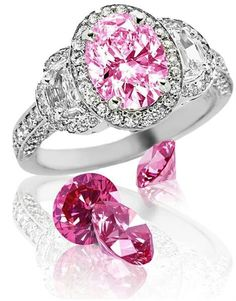What is diamond color? It's part of the of diamond education and it's talking about the lack of color in a diamond. Here you'll discover what you need to know about diamond color, as well as, myths, tricks to watch out for, and money saving tips. Pink Diamond Engagement Ring, Pink Diamond Ring, Pink Sapphire, Pink Jewelry, Diamond Jewelry, Jewlery, Jewelry Box, Colored Diamonds, Pink Diamonds