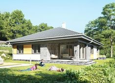 Blanka - murowana – beton komórkowy - zdjęcie 6 Compact House, Bungalow House Plans, Gazebo, Outdoor Structures, House Design, Outdoor Decor, Home Decor, Conversation, Dresses