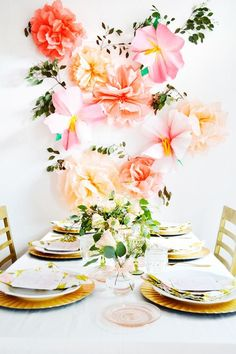 Favorite Wall Décor (paper flowers via Planning Pretty)