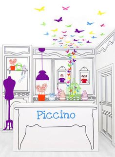 Original interior design for children's clothing store in Valencia