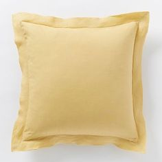 Belgian Linen Pillow Cover - Horseradish #westelm #LGLimitlessDesign #Contest