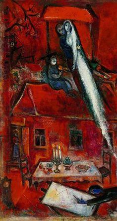 Marc Chagall - Crépuscule ou La maison rouge (1948)