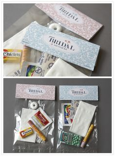 bachelorette party survival kit...such a cute idea :)