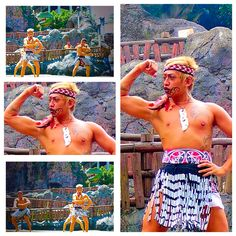 New Zealand Haka @ Dinosaur stage Leofoo Village  Theme Park...