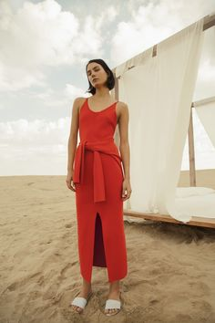 Whenever I'm in a style rut, Nanushka is one of the few labels I visit for a much needed dose of inspiration. Her styling is always impeccable, not to mention pieces from each of her collections seem to transcend time and trends. I love that designerSandra Sandor is carrying over the cropped wrap