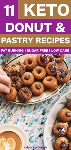 11 Gluten-Free Sugar-Free Donut and Pastry Recipes for a Ketogenic Diet The BEST KETO donut and pastry recipes for ketogenic and low carb diets. With some nut free and dairy free options. Donuts Keto, Sugar Free Donuts, Healthy Donuts, Gluten Free Donuts, Doughnuts, Keto Foods, Ketogenic Recipes, Diet Recipes, Healthy Recipes