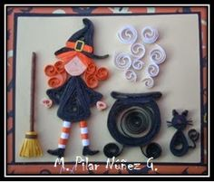 ❀ Crea Quilling ❀: Quilling 3d: Witch in Halloween
