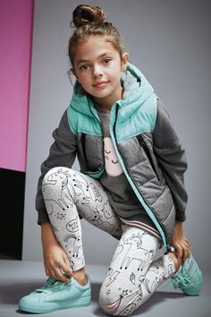 Buy Grey Unicorn Print Leggings (3-16yrs) from the Next UK online shop