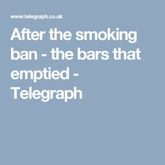 essays on smoking bans