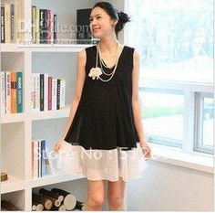 Wholesale 2012 new maternity fashion dress black sleeveless pregnant women chiffon wear, Free shipping, $20.8-27.25/Piece | DHgate