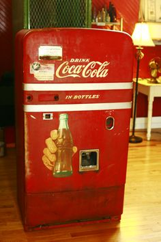 Vintage Coke Machine ~   Check out our Facebook Page for prices and measurements!  Everything Vintage Co.