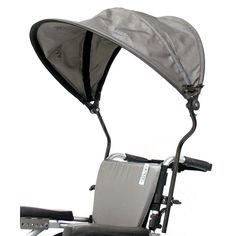 wheelchair canopy // Hmm..maybe an umbrella holder is the wrong way to go...