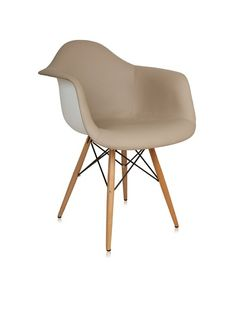 Control Brand Mid-Century-Inspired Arm Chair with Vinyl-Covered Seat, Brown/White, http://www.myhabit.com/ref=cm_sw_r_pi_mh_i?hash=page%3Dd%26dept%3Dhome%26sale%3DASZGFBN49B7FF%26asin%3DB00963WSJI%26cAsin%3DB00963WSJI