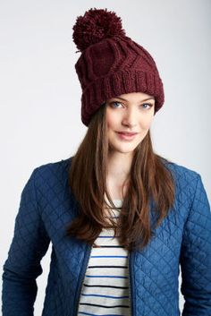 Patons® Classic Wool Worsted™ Cable Traveler Knit Hat