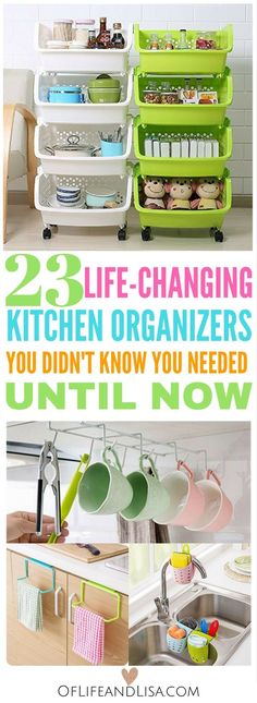 These  with organization tools are a must-have. Organize your kitchen drawers, cabinets and pantry with ease.
